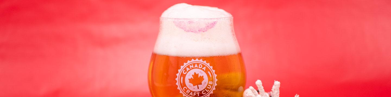 A Canada Craft Club beer glass.